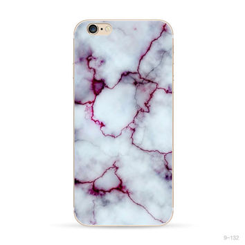 Purple Marble Stone iPhone 5s iPhone 7 6 6S Plus Case Cover+ Nice Gift Box