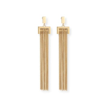 Delfine Rigid Chain Drop Earrings - Chloe