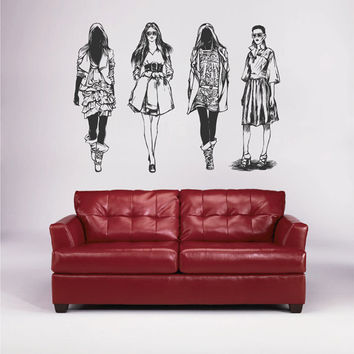 kik1781 Wall Decal Sticker girls fashion clothing boutique window shop livingroom