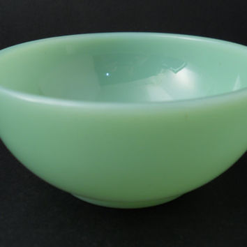 Jadite Or Jadeite Coupe Bowl Fire King Anchor Hocking c 1960s