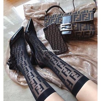FENDI FF Black Socks