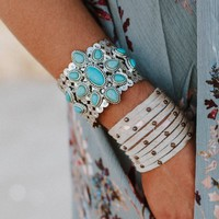 She's A Wildflower Turquoise Cuff