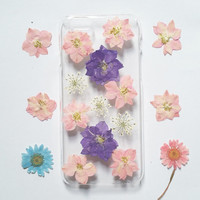 iPhone 5s Case Floral, iPhone 5 Case Clear, Pressed Flower iPhone 5s Case, samsung galaxy s6 case, s5 case, pressed flower note 3 case,