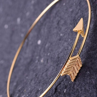 Wrap Around Arrow Bangle - Gold or Silver