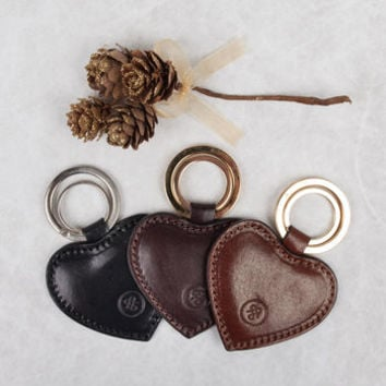 luxury leather heart keyring. 'the mimi' by maxwell scott bags | notonthehighstreet.com