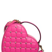 Women's Moschino Crystal Heart Crossbody Bag