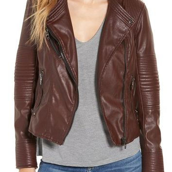 BLANKNYC Quilted Faux Leather Moto Jacket | Nordstrom
