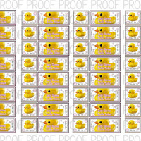 Rubber Duck Baby Shower Raffle Tickets (Digital File)