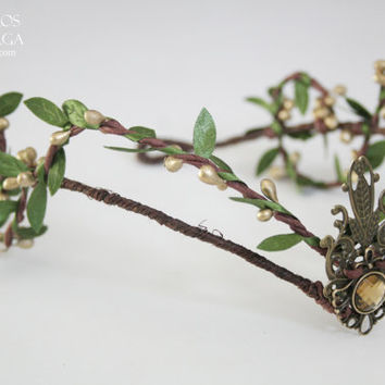 Wooland elf tiara - elven headpiece - fairy crown