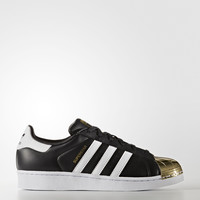 ADIDAS WOMEN'S SUPERSTAR 80S SHOES - BLACK