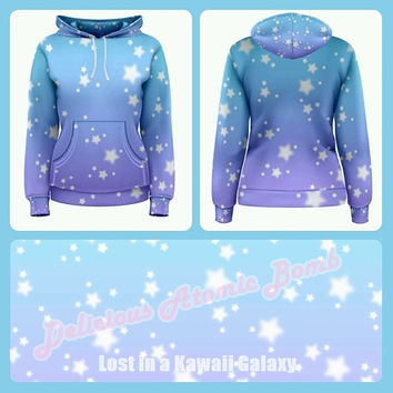 Lost in a Kawaii Galaxy Hoodie