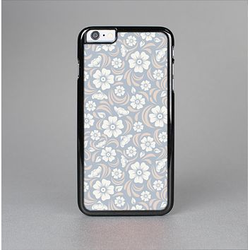 The Subtle White and Blue Floral Laced V32 Skin-Sert Case for the Apple iPhone 6