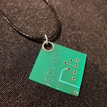 Real Circuit Board Necklace - Circuit Board Jewelry - Science Jewelry - Technology Jewelry - Science Gift - Tech Jewelry - Electronics Gift