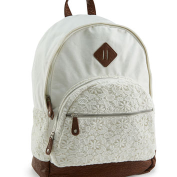Aeropostale  Floral Crochet Backpack