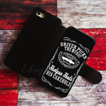 Supernatural Wallet iPhone cases Sam Dean Winchester Samsung Wallet Leather Case