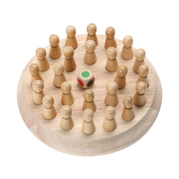 Kids Memory Match Stick Chess Game Block Toy Wooden Educational Toy for Children Fun Block Board Game Memory Match Stick Toy