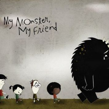 My Monster My Friend  Print 8x10 by falldowntree on Etsy