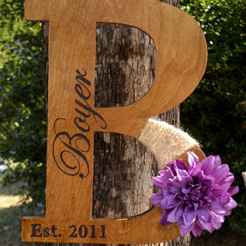 Large Monogram Door Hanger Wreath - Personalized Real Estate Closing Gift