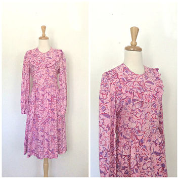 Vintage Lilly Pulitzer Dress - summer dress - pink cotton dress - sundress - M L