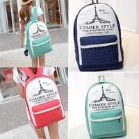 Hot Women bags Backpack Girl School #A Shoulder Bag Rucksack Canvas Travel bags