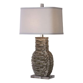 Clavin Stack Textured Ceramic Table Lamp by Uttermost