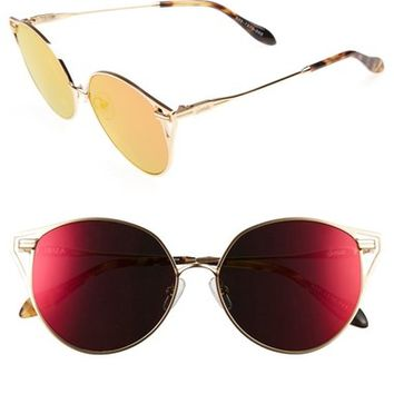 Sonix Ibiza 55mm Mirrored Round Sunglasses | Nordstrom
