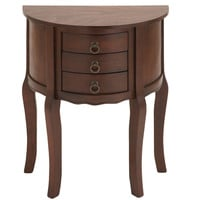 Wood Night Stand with Wood Brown Shade & Useful Drawer Front