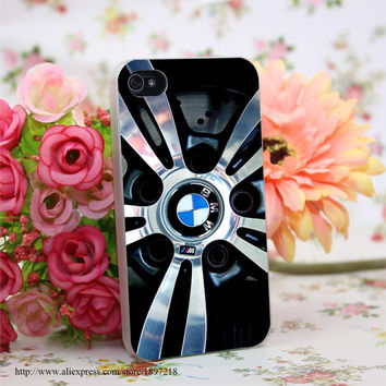 Luxury Car Brand logo Hard Transparent Painted Cover for iphone 4 4s 5 5s 6 6s plus