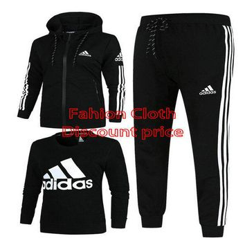 Adidas Jacket New Style Fashion Trend Three-Piece Suit For Men 18926 L-4X Black