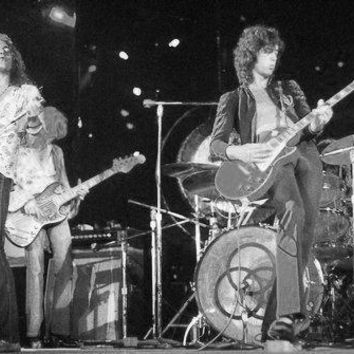 Led Zeppelin Poster Standup 4inx6in black and white