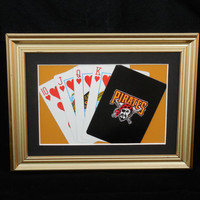 Pittsburgh Pirates 5x7 Flush? Hearts Authentic Playing Card Display Matted FRAMED NF613