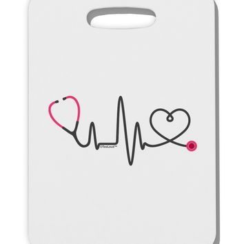 Stethoscope Heartbeat Thick Plastic Luggage Tag