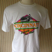ON SALE Vintage Cincinnati, Ohio 1980's SOFT t-shirt (Xl)