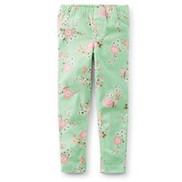 Floral Stretch Twill Jeggings