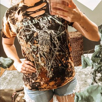 Bleached and Distressed Metallica Band Tee