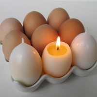 MAGIC EGG YOLK Candles by kittredgecandles on Etsy