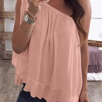 Candy Color Loose Women Summer Tshirts Solid Color Off Shoulder Ladies Tops Casual Tops Plus Size Womens Clothing