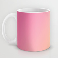 Pink to Orange Ombre Mug - Coffee Mug - Pink Mug - Orange Mug - Ombre - 11 oz - 15oz - Ceramic - Made to Order
