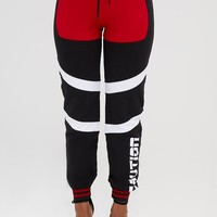 Shape Black Caution Contrast Joggers