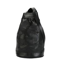 Hermes Vintage Perforated Logo Backpack