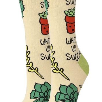 What Up Succa? Women's Crew Socks