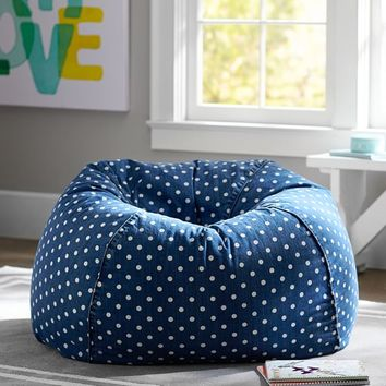 Denim Dottie Beanbag
