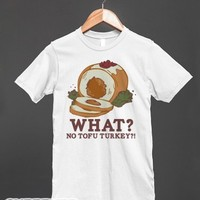 No tofu turkey-Unisex White T-Shirt