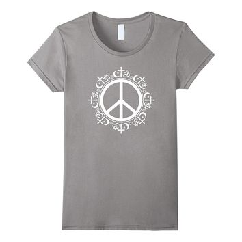Coexist Peace Sign Interfaith Human Equality Rights T-Shirt