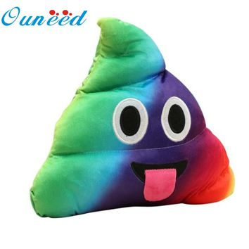 Ouneed  Mini Emoji Pillow Cushion Poop Shape Pillow Doll Toy Throw Pillow Amusing emotion Poo Cushion almofadas #10 2016 Drop