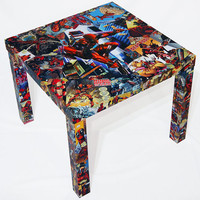 Deadpool Comic Collage Table - Greg Horn Signed Variant  FREE SHIPPING USA