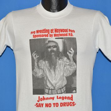 90s Johnny Legend Say No To Drugs Wrestling t-shirt Small