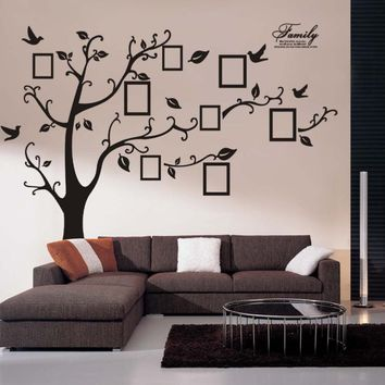 Happy home photo tree frame family forever memory tree wall decals removable pvc wall sticker home decoration DIY