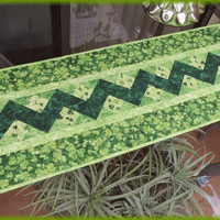 Quilted Irish Shamrock Table Runner 679