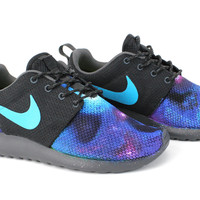 Nike Women Roshe Run Custom Galaxy